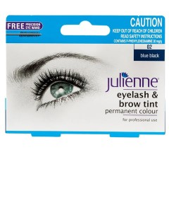 Julienne Eyelash And Brow Tint Blue Black