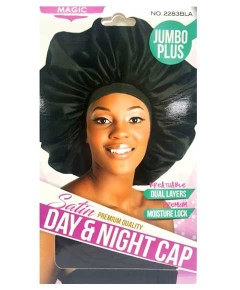 Magic Collection Satin Jumbo Plus Day And Night Cap 2283BLA