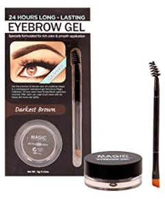Matte Waterproof 24 Hours Eyebrow Gel Darkest Brown