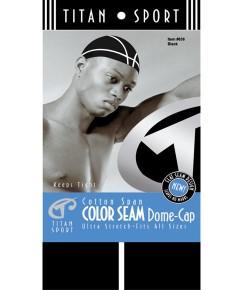 Color Seam Dome Cap 638 Black