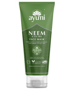 Ayumi Naturals Neem And Tea Tree Face Mask