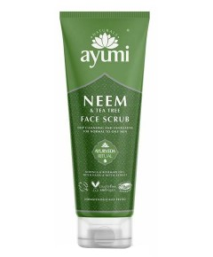 Ayumi Naturals Neem And Tea Tree Face Scrub