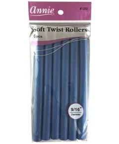 Soft Twist Rollers Blue