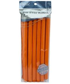 Annie Soft Twist Rollers Orange 1262