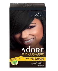 Adore Cream Permanent Hair Color Black Valvet 767