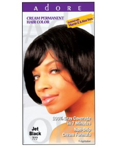 Adore Cream Permanent Hair Color Jet Black 777