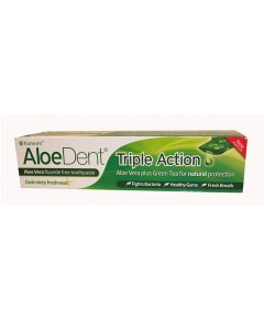 Aloedent Triple Action Fluoride Free Toothpaste