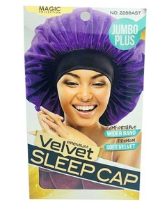 Magic Collection Velvet Sleep Cap 2289AST