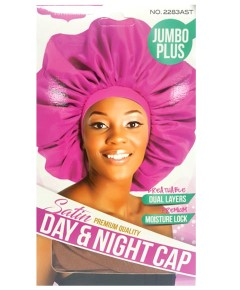 Magic Collection Satin Jumbo Plus Day And Night Cap 2283AST