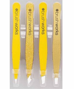Brush Works HD Combination Tweezer Set Gold