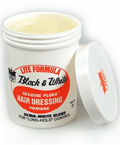 Black and White Genuine Pluko Hair Dressing Pomade