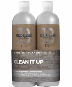 Bed Head For Men Clean Up Tween Duo Daily Shampoo And Conditioner