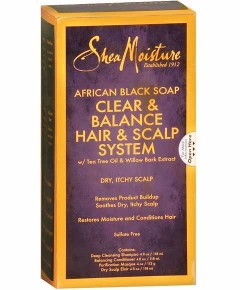 African Black Soap Clear And Balance Hair And Scalp System