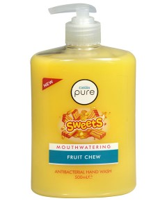 Pure Sweets Mouthwatering Fruit Chew Antibacterial Handwash