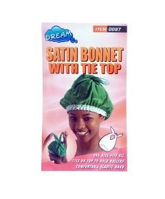 Satin Bonnet With Tie Top 0087