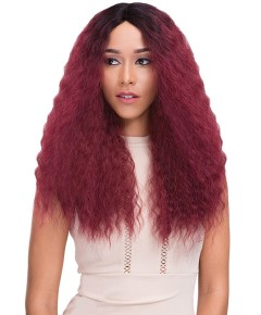 Natural Super Flow Deep Part Syn French Lace Wig