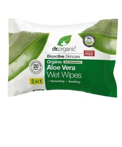Organic Aloe Vera Wet Wipes 2 In 1