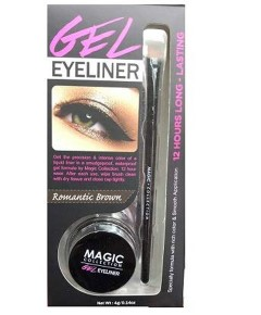 Magic Collection Gel Eye Liner 12 Hour Long Lasting Romantic Brown
