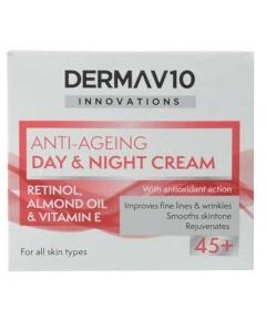 Derma V10 Anti Ageing Day And Night Cream 45Plus