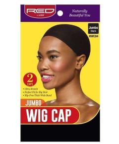 Jumbo Wig Cap Black HWC04