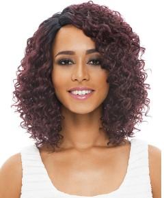 Natural Super Flow Deep Part Syn Bohemian Lace Wig