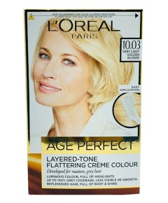 Age Perfect Layered Tone Flattering Creme Colour 10.03 Very Light Golden Blonde