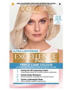 Excellence Pure Blonde 03 Ultra Ash Blonde Permanent Hair Colour