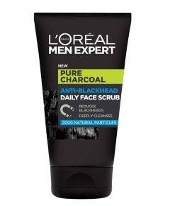 Men Expert Pure Charcoal Anti Blackhead Daily Face Scrub