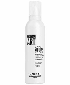 Tecni Art Full Volume Extra Strong Hold Mousse Force 5