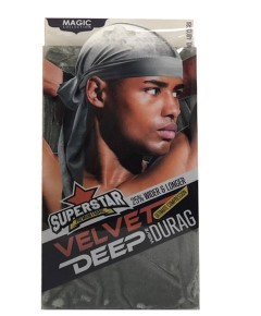 Magic Collection Superstar Velvet Deep Wave Durag 4803GRA