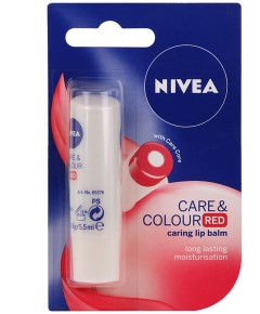 Care And Colour Red Caring Lip Balm