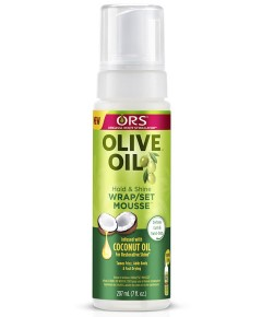 ORS Olive Oil Hold And Shine Wrap Set Mousse With Coconut Oil