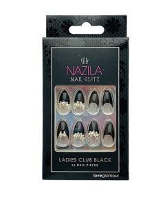 Nail Glitz Love Glamour Ladies Club Black