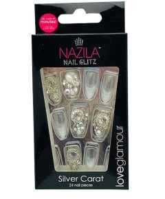 Nail Glitz Love Glamour Silver Carat