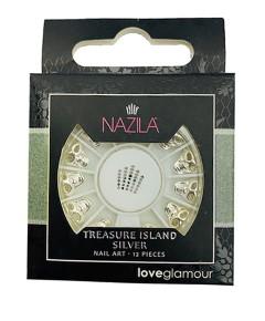 Nail Art Charm Treasure Island Silver
