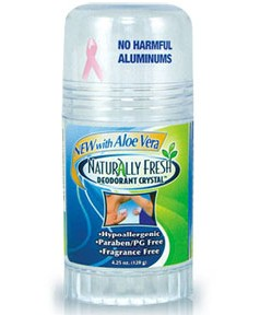 Naturally fresh deodorant crystal stick