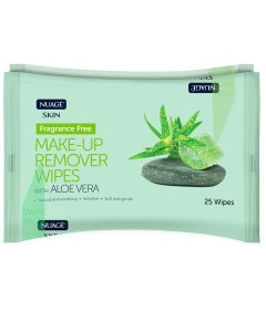 Nuage Fragrance Free Make Up Remover Wipes With Aloe Vera