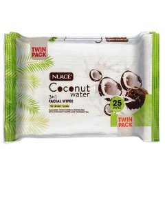 Nuage 3 In 1 Coconut Water Facial Wipes