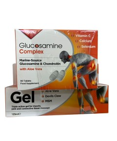 Glucosamine Complex Tablet And Muscle Gel Pack