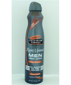 Cocoa Butter Formula Men Rapid Moisture Spray Lotion