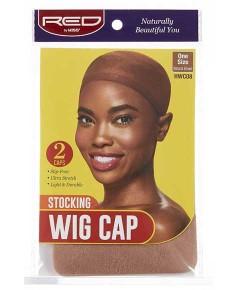 Stocking Wig Cap Natural Brown HWC08