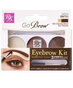 Go Brow Eyebrow Kit And Stencils RBKT03