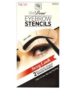 Go Brow Eyebrow Stencils RBS01 Sexy Look