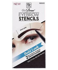 Go Brow Eyebrow Stencils RBS02 Bold Look