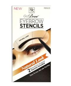 Go Brow Eyebrow Stencils RBS03 Natural Look