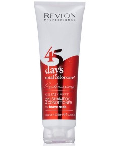Revlonissimo 45 Days Total Care Conditioning Shampoo For Brave Reds