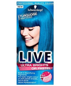 LIVE Ultra Brights Or Pastel Turquoise Temptation 096
