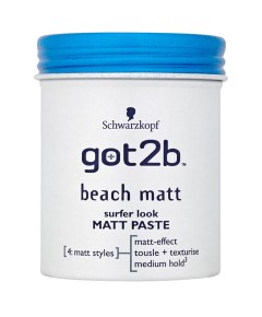 Schwarzkopf Got2b Beach Matt Paste Medium Hold