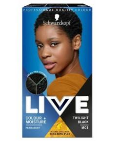 Live Colour Plus  Moisture Permanent Hair Colour Twilight Black M01