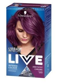 Live Urban Metalic Intense Permanent Colour  U69 Amethyst Chrome